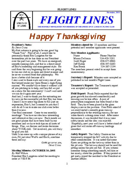 Flight Lines (November-2001)