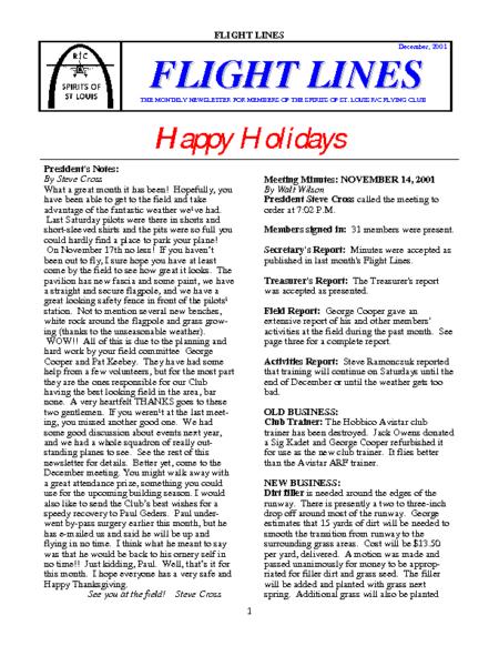 Flight Lines (December-2001)