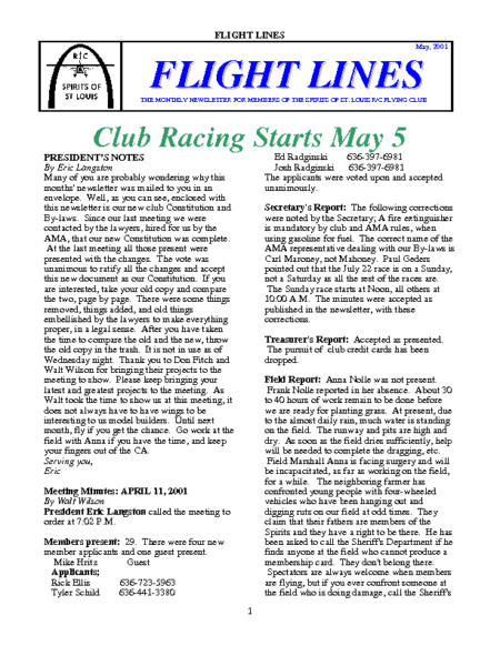Flight Lines (May-2001)