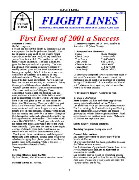 Flight Lines (July-2001)