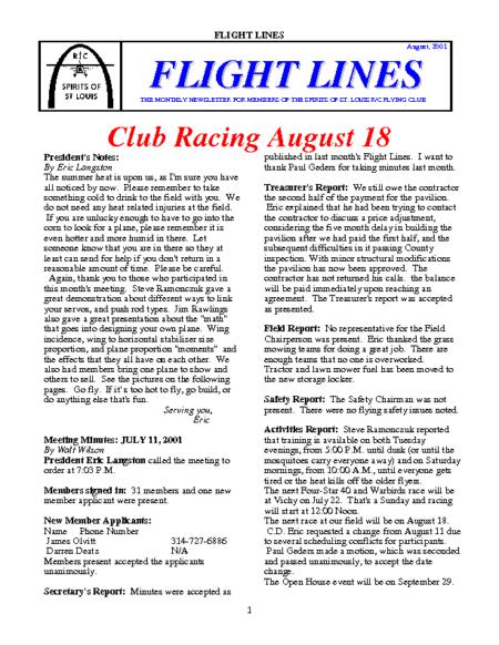 Flight Lines (August-2001)