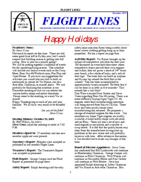 Flight Lines (December-2002)