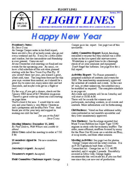 Flight Lines (January-2003)