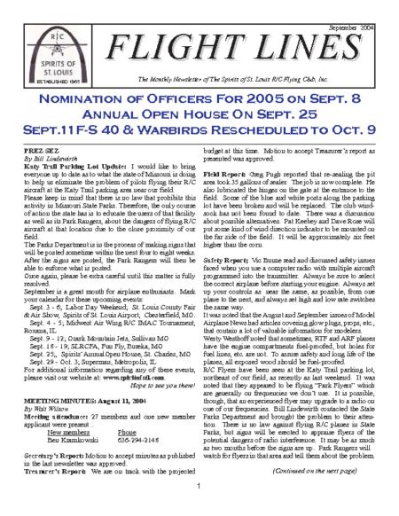 Flight Lines (September-2004)