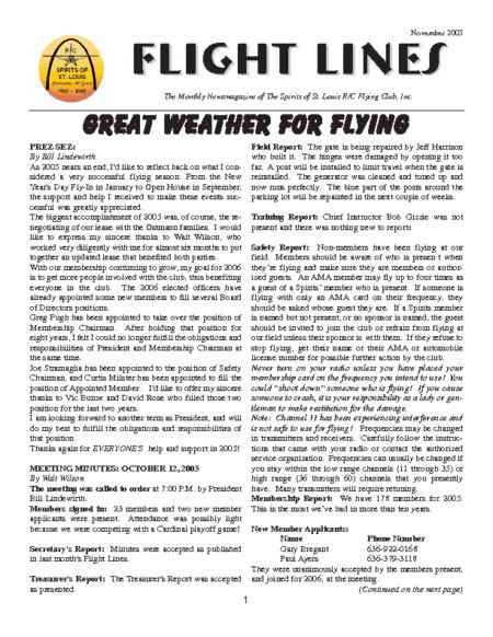 Flight Lines (November-2005)
