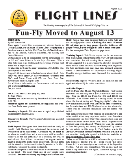 Flight Lines (August-2005)