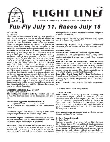 Flight Lines (July-2009)