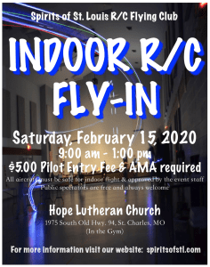 Winter Indoor Fun Fly / Fly-In @ Hope Lutheran Church