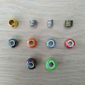 Perlen für die Trommelbespannung