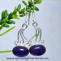Amethyst Crystal Gemstone Sterling Silver Earrings ...