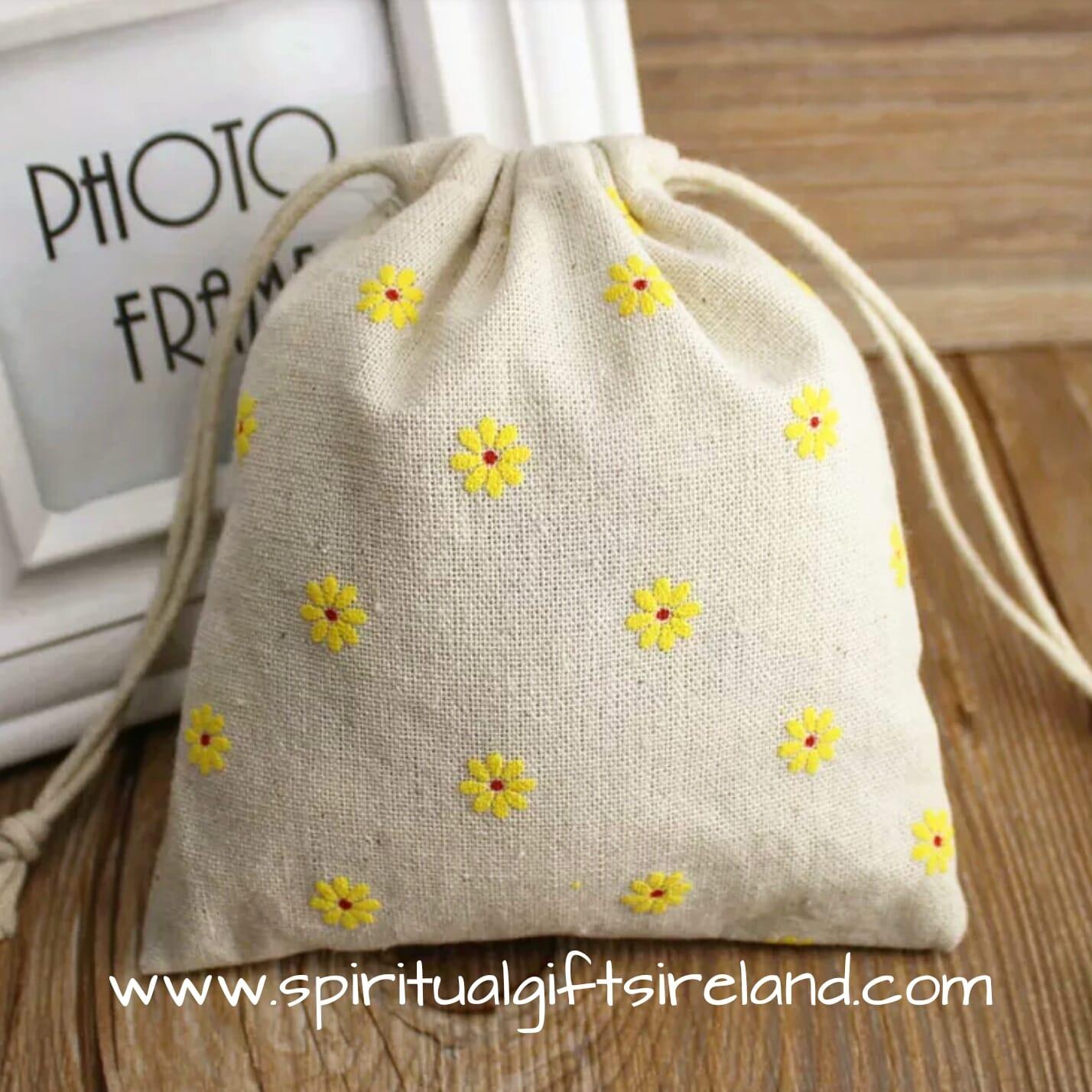 daisy print cotton drawstring