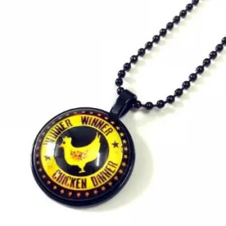Pubg Winner Winner Chicken Dinner Necklace Black Spiritually Geeky