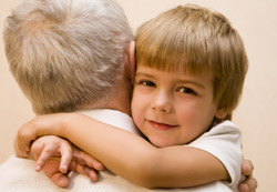 Spiritual perspective on hugging children