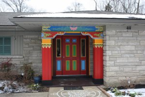 Entrance to the Drepung Gomang Institute in Louisville, Kentucky (Lori Erickson photo)