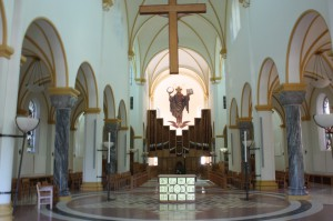 The archabbey of Saint Meinrad includes an organ with nearly 4,000 pipes (photo by Bob Sessions).