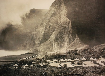 The leper colony on Molokai Island (photo from Father Damien shrine)