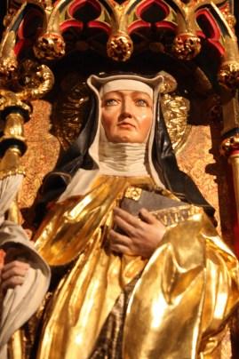 Image of Hildegard of Bingen in St. Rochus Chapel (Bob Sessions photo)