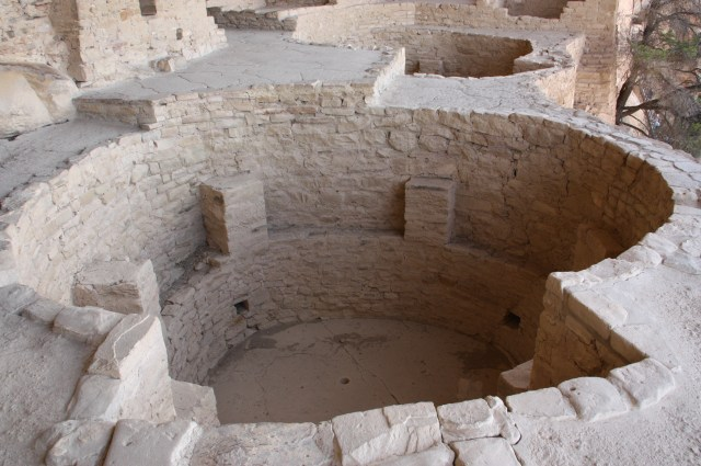 At Balcony House, two kivas exist side by side—note the small sipapu hole in the floor. (Bob Sessions photo)