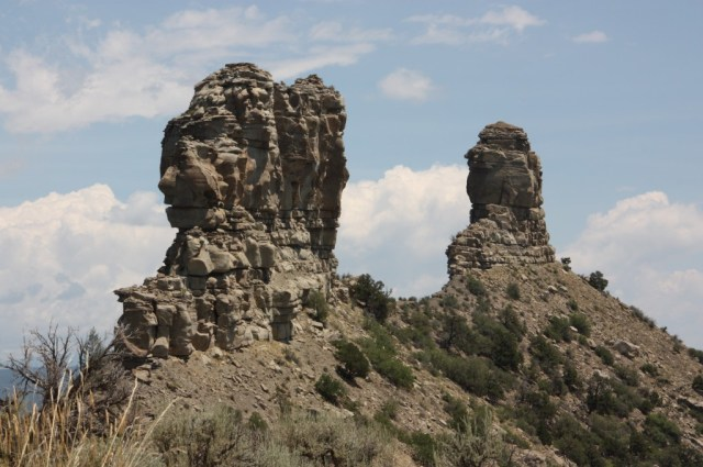 Chimney Rock National Monument in Colorado preserves an ancient astronomical site of the Ancestral Puebloans. (Bob Sessions photo)