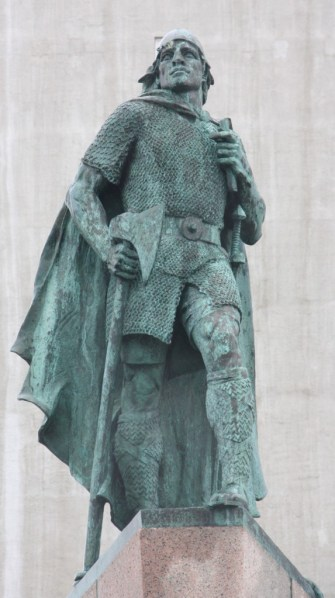 A statue of Leif Erikson overlooks Reykjavik. The family resemblance is uncanny, isn't it? (Bob Sessions photo)