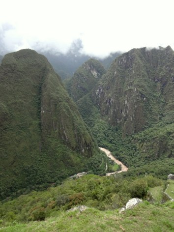 The Urubamba River flows by 2000 feet below Machu Picchu. (Lori Erickson photo)