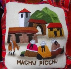 Machu Picchu pillow design