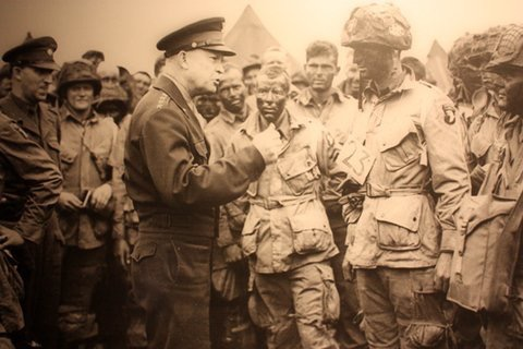 Despite being raised in a pacifist family, Dwight Eisenhower became one of the most celebrated military leaders in history. (photo from the Eisenhower Presidential Library and Museum)