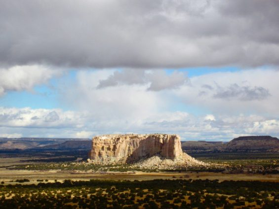 Acoma Pueblo is located atop a tall mesa west of Albuquerque. (photo by Sky City Cultural Center)