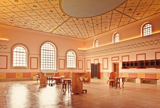 The reconstructed bath house at Carnuntum includes this spacious assembly room. (photo used with permission of Carnuntum, (c) Atelier Olschinsky)