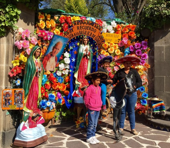 Visitors to Shrine of Our Lady of Guadalupe