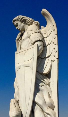 Angel on top of church