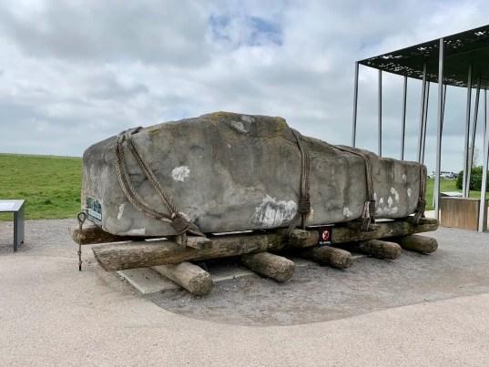 Sarsen replica, Stonehenge stone, rocks at Stonehenge, Stonehenge construction materials