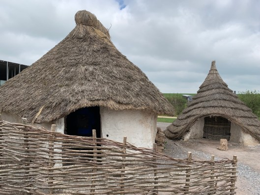 Stonehenge Visitor Center, Stonehenge house, reconstructions of Neolithic houses, Neolithic buildings