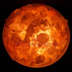Lamp edelsteen + zoutsteen