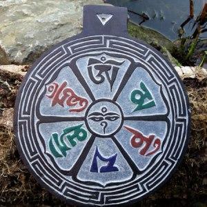 Leisteen met symbolen