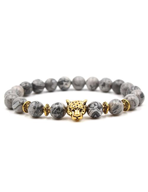 Boeddistische-Natuursteen-tijgerkop-armband-goud