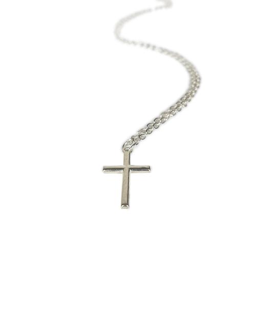 Bijbels kruisje klein ketting