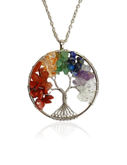 Chakra-TreeofLife-Natuursteen ketting