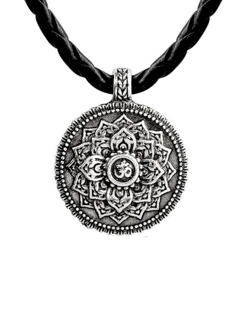 Tibetaanse-mandala-leer-ketting