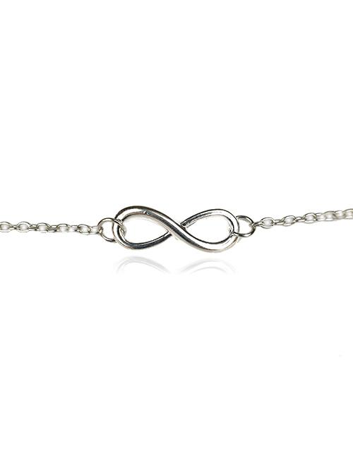 Zilverkleurige-Infinity-armband