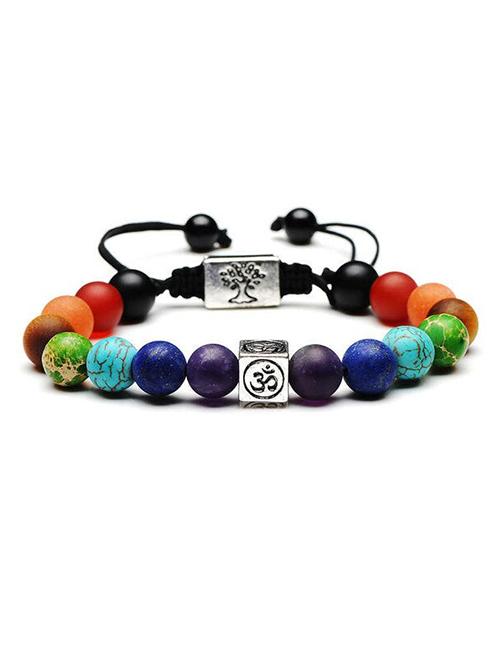 Chakra-TreeofLife-Ohm-Mantra armband