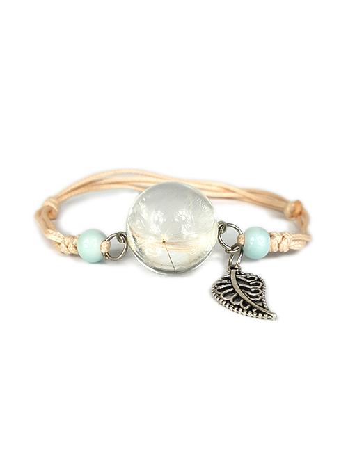 Natuurlijke-paardenbloem-Wens-Dromen-armband