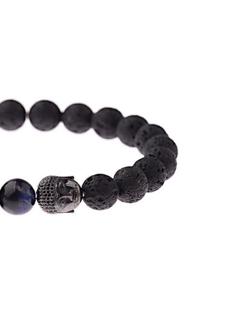 Dubbele Boeddha Lavasteen Lapis lazuli armband