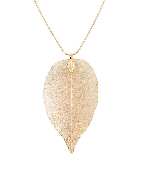 Tree of Life Blad ketting goud