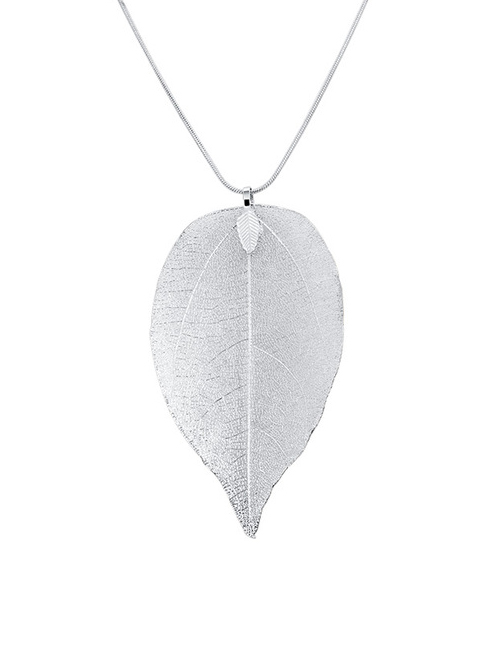 Tree of Life blad ketting zilver