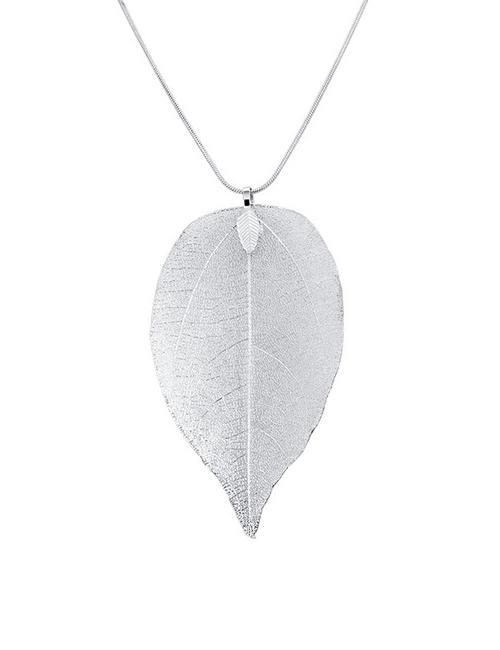 Tree of Life blad ketting zilver