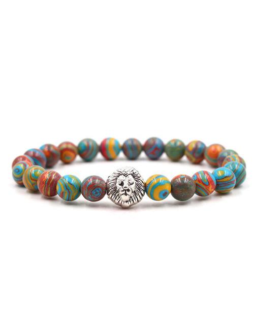 Malachiet Multicolor Leeuwen armband