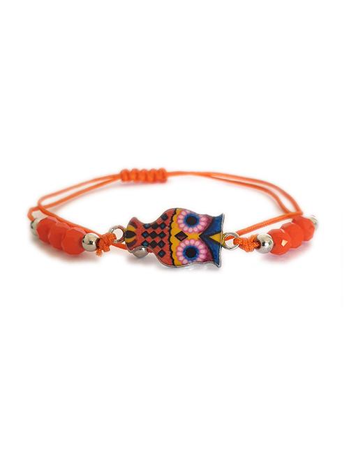 Kleurrijk Uil armbandje