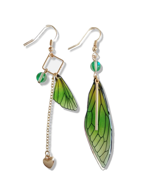 Vlinder oorbellen groen