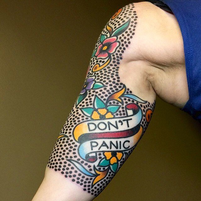 American Traditional Tattoo Half Sleeve